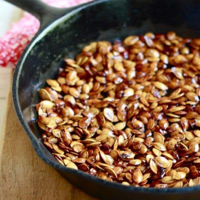 honey roasted pumpkin seeds