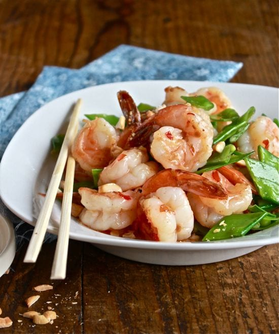 dinner tonight: sweet chili shrimp stir-fry