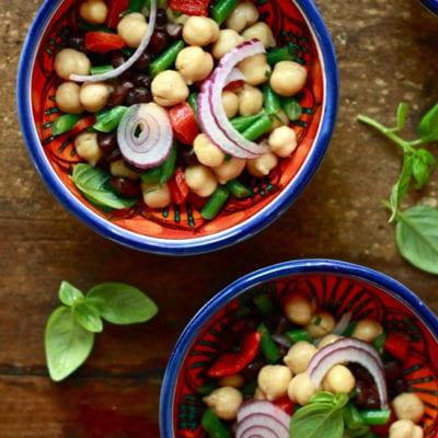 honey balsamic 3 bean salad