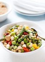 Chopped Asparagus Salad | theclevercarrot.com