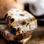 Country Sourdough with Raisins + Walnuts | theclevercarrot.com
