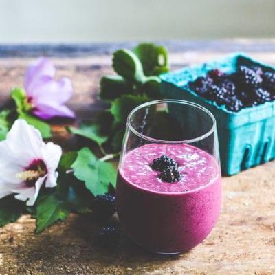 blackberry ginger smoothie