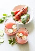 sparkling watermelon + cucumber refresher | theclevercarrot.com