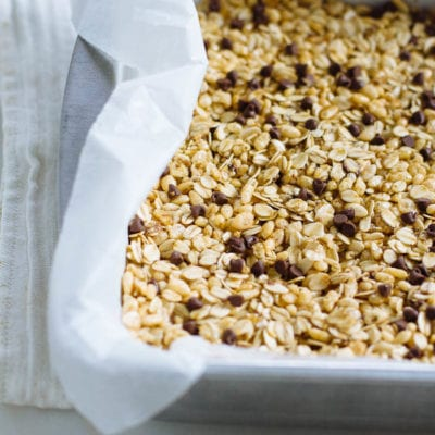 chocolate chip granola bars + a trip for two!
