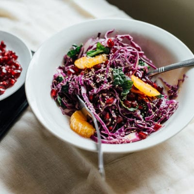 pack and go lunch: tangled red cabbage salad