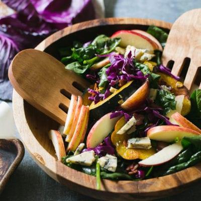 warm autumn spinach salad