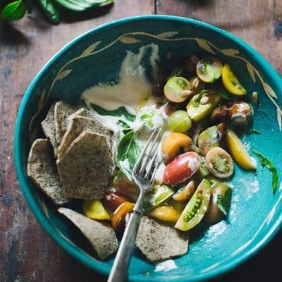 a bohemian tomato salad