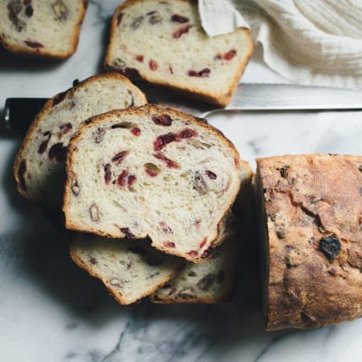 Overnight Cranberry Pecan Sourdough