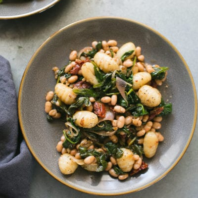 Spinach and Gnocchi with White Beans from Power Plates + a Giveaway